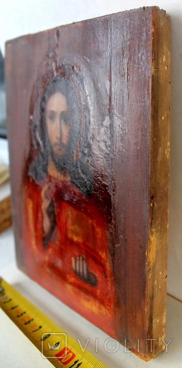 """Икона """"Господь Вседержитель"""" (22см х 25см) - под реставрацию, фото №11"""
