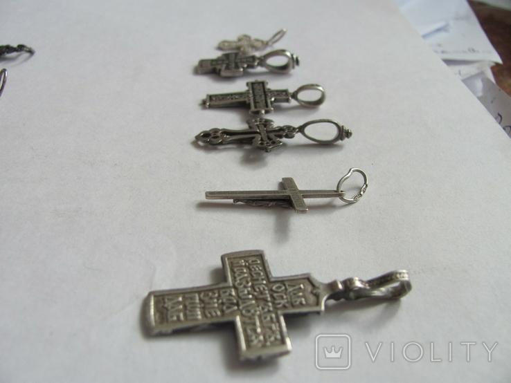 Кресты 925 пробы 6 шт, фото №5