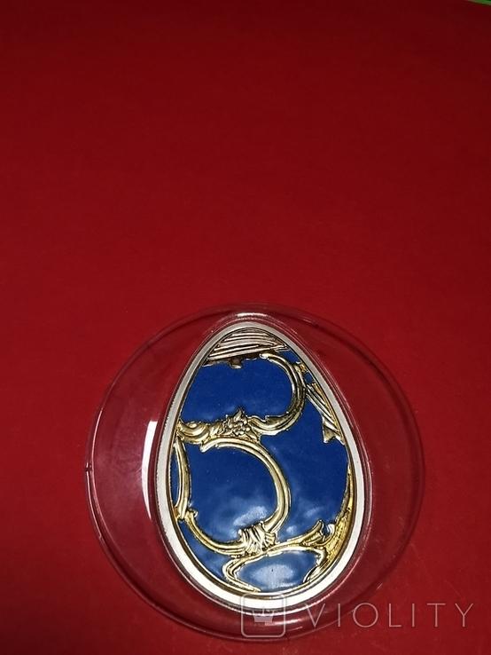 5 долларов острова Кука серебро яйцо Фаберже, фото №4