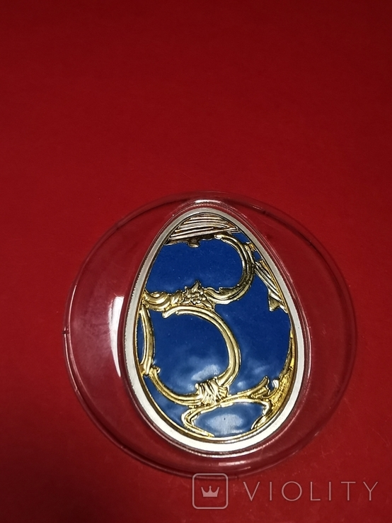 5 долларов острова Кука серебро яйцо Фаберже, фото №5