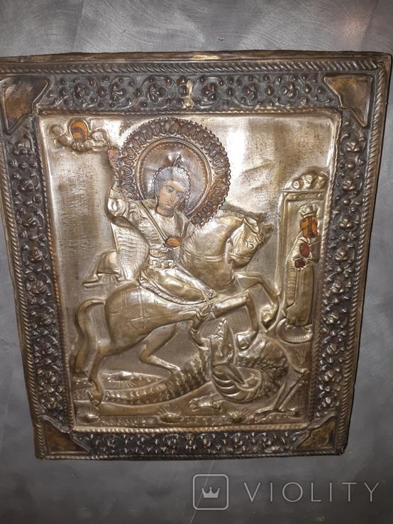 Икона Св. Георгий 31*27, фото №2