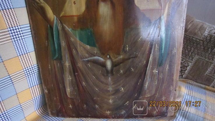 Большая икона 43 x 33,5см Бог Отец и Святой Дух, фото №6