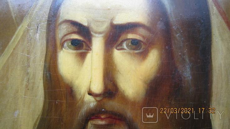 Большая икона 43 x 33,5см Бог Отец и Святой Дух, фото №3
