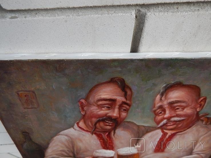"""""""Два кума"""" 30 x 40, 2021, фото №3"""