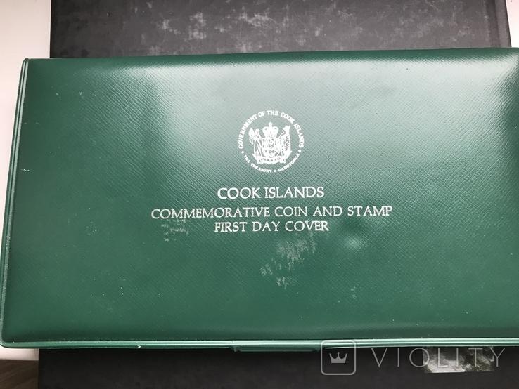 5 долларов Острова Кука 1976 в конверте с маркой первого дня гашения, фото №5