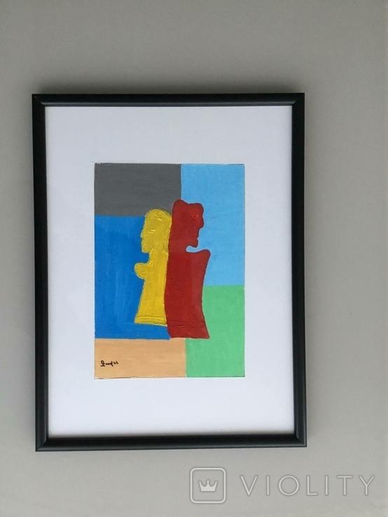 Картина картон, акрил, абстракция., фото №2