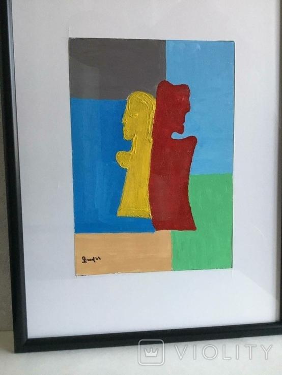 Картина картон, акрил, абстракция., фото №4