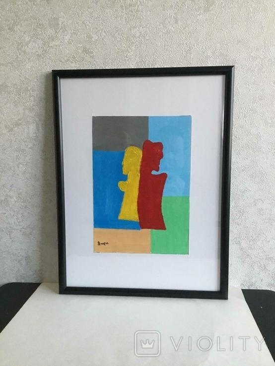 Картина картон, акрил, абстракция., фото №5