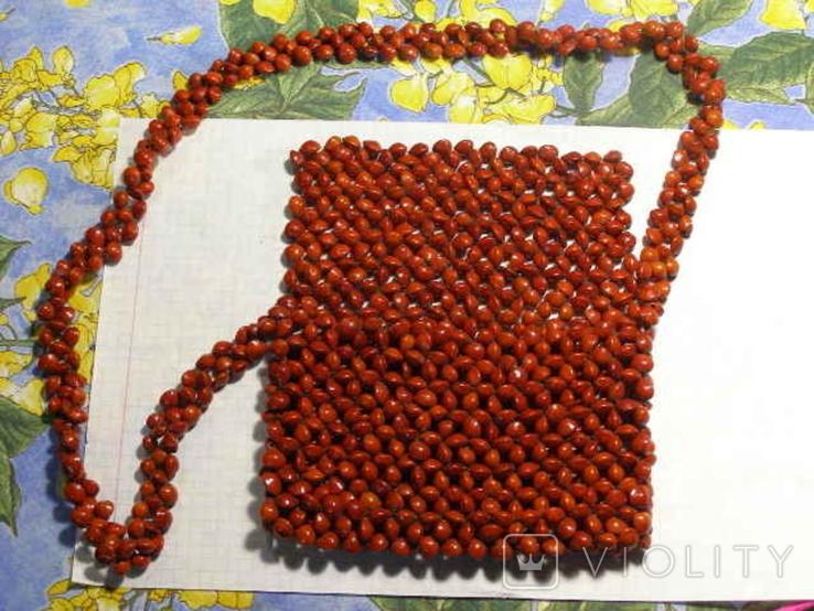 Сумка клатч семена растения, фото №2