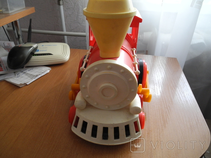 Игрушечный советский паровоз, пластмасса., фото №3