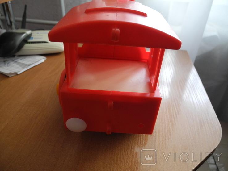 Игрушечный советский паровоз, пластмасса., фото №5