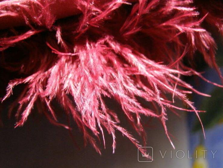 Сумка клатч натуральное перо, фото №7