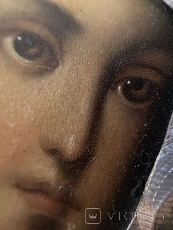 Икона Смоленской Божьей Матери. Серебро 84 начало XX века, фото №11