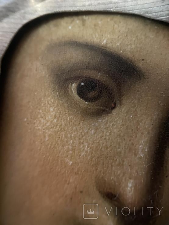 Икона Смоленской Божьей Матери. Серебро 84 начало XX века, фото №13
