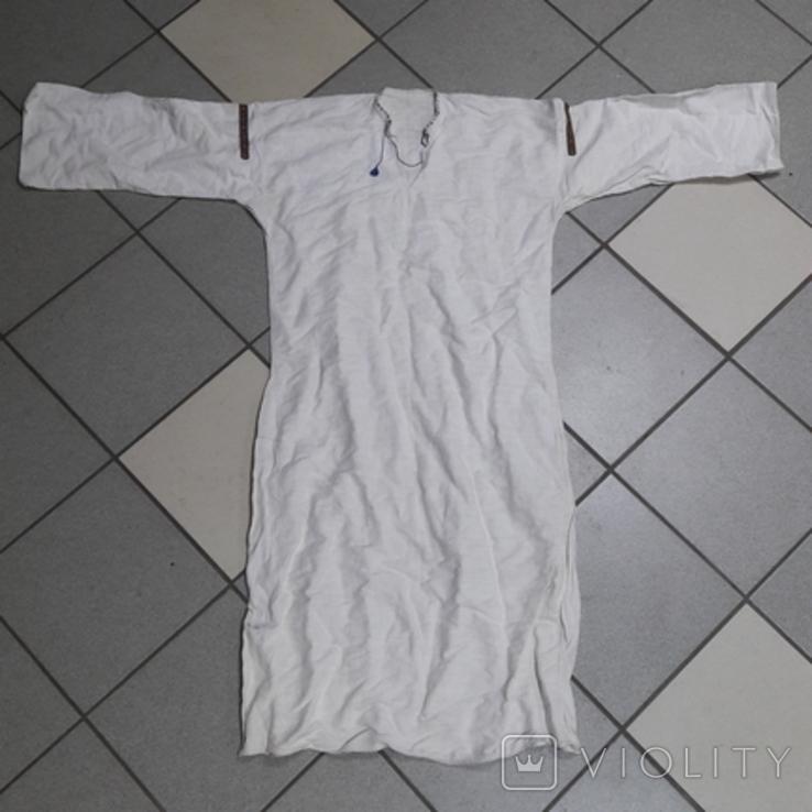 Вишита сорочка на домотканому полотні, фото №2