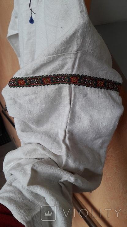 Вишита сорочка на домотканому полотні, фото №6