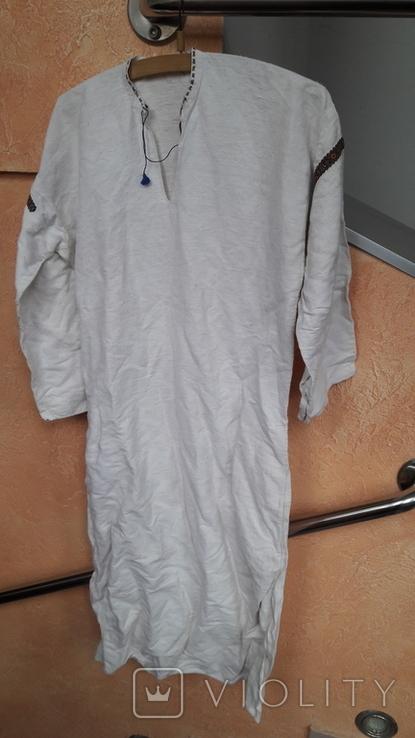 Вишита сорочка на домотканому полотні, фото №8