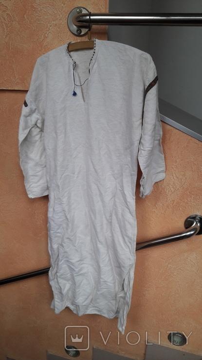 Вишита сорочка на домотканому полотні, фото №9