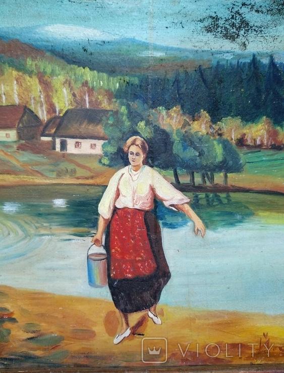 Картина, художник Мотиль Й. Копия., фото №2