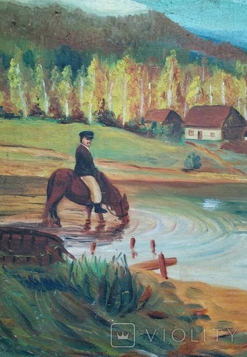 Картина, художник Мотиль Й. Копия., фото №3