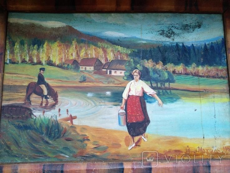 Картина, художник Мотиль Й. Копия., фото №6