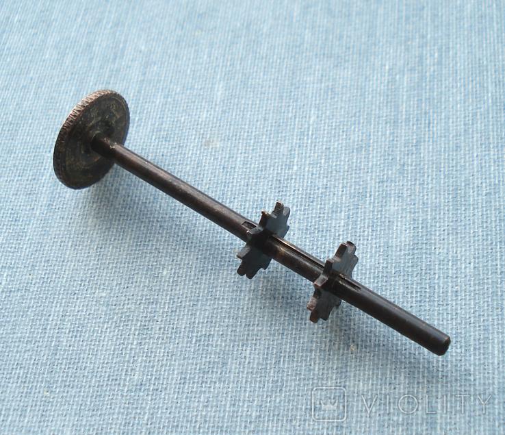Часть механизма регулировки фитиля керосиновой лампы, фото №7