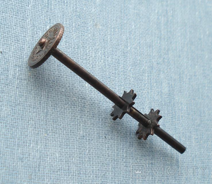 Часть механизма регулировки фитиля керосиновой лампы, фото №2