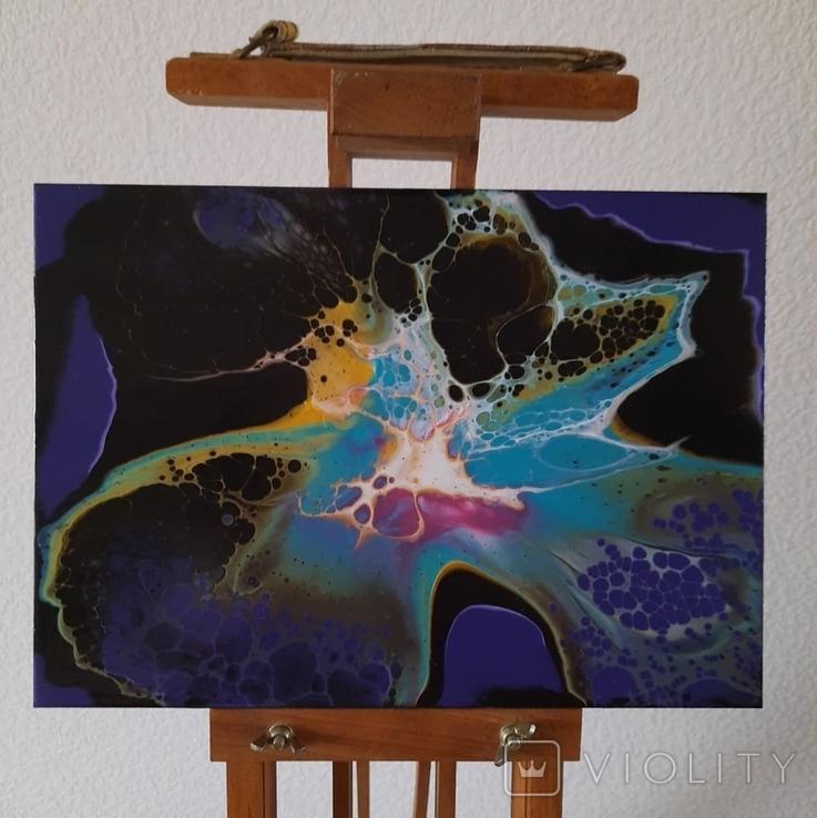 Картина/ живопис/ абстракція Fluid Art #66 acrylic, фото №4