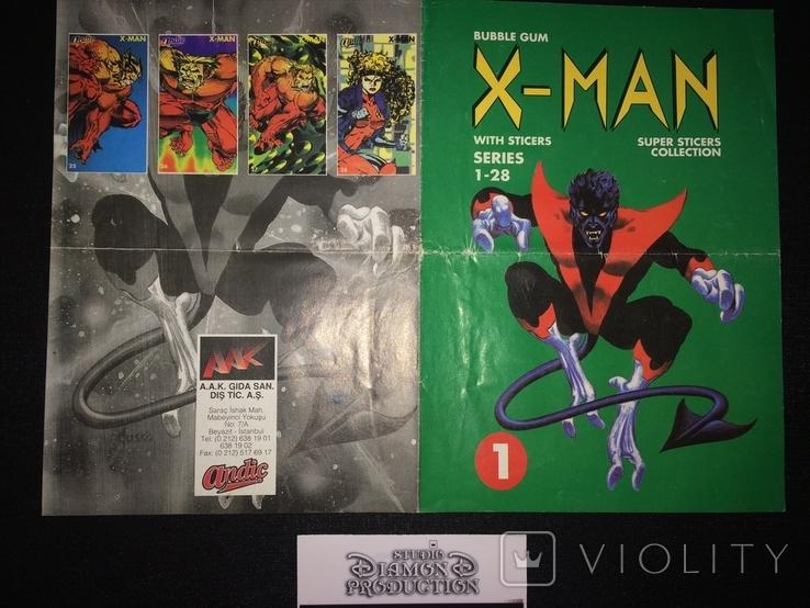 Хит , чистий альбом для наклеек -Х - Ман / X - Man 90-х, фото №3