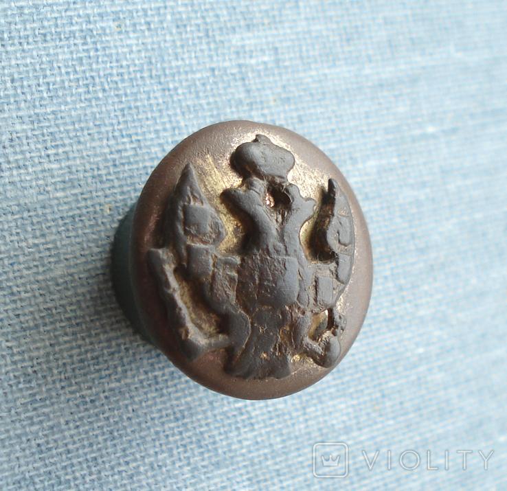 Пуговица с накладным орлом, позолота, фото №6