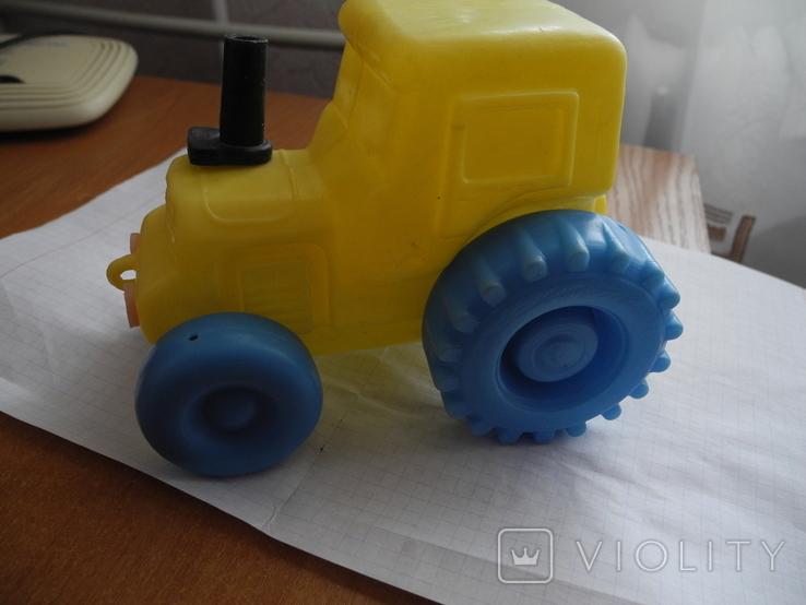 Детский пластмассовый трактор СССР., фото №4