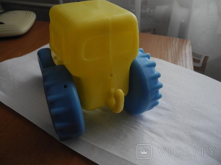 Детский пластмассовый трактор СССР., фото №5