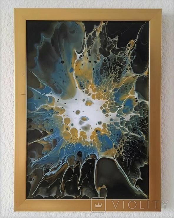 Картина/ живопис/ абстракція Fluid Art #67 acrylic, фото №2