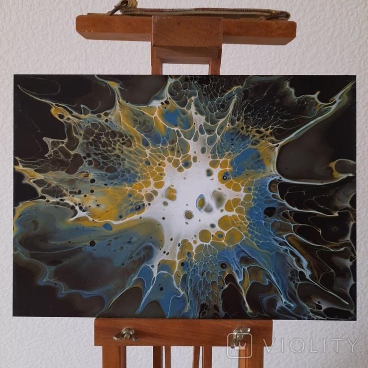 Картина/ живопис/ абстракція Fluid Art #67 acrylic, фото №6