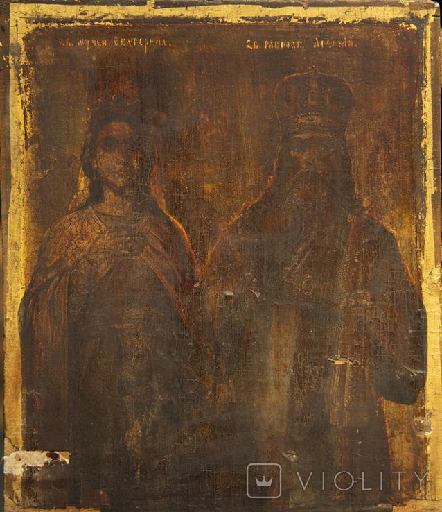 Икона Святых Екатерины и Алексея, фото №2