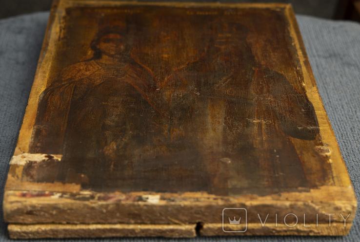 Икона Святых Екатерины и Алексея, фото №4