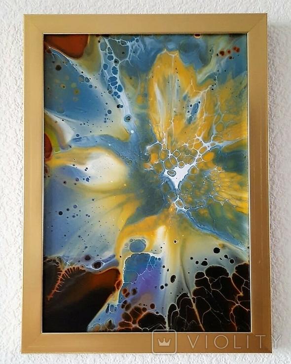 Картина/ живопис/ абстракція Fluid Art #68 acrylic, фото №2
