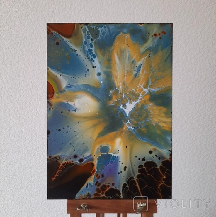 Картина/ живопис/ абстракція Fluid Art #68 acrylic, фото №3