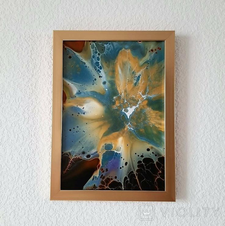 Картина/ живопис/ абстракція Fluid Art #68 acrylic, фото №12
