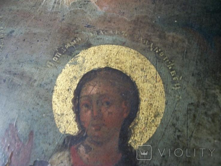 Икона два святых. Дерево, письмо, фото №8