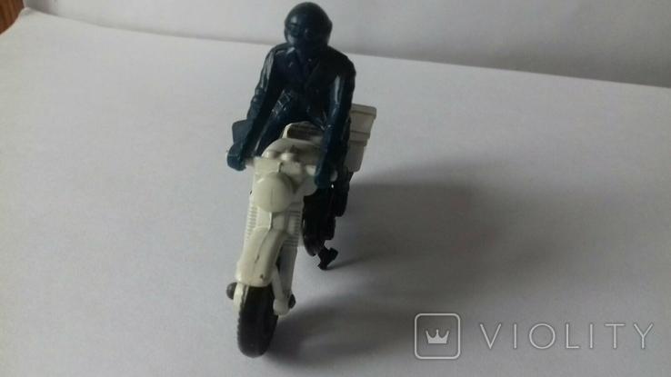 Модель мотоцикл Honda750, Matchbox, 1977, фото №6