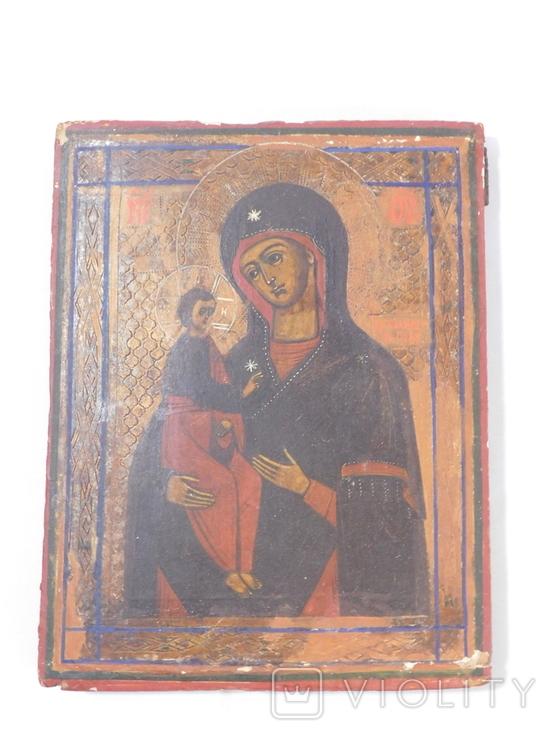 Икона. Иерусалимская Божья Матерь. Размер 17х22 см, фото №2