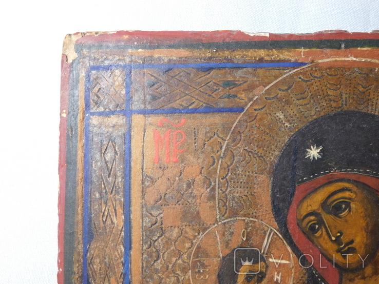 Икона. Иерусалимская Божья Матерь. Размер 17х22 см, фото №3