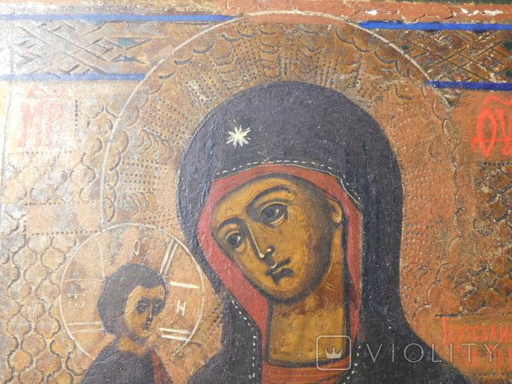 Икона. Иерусалимская Божья Матерь. Размер 17х22 см, фото №5