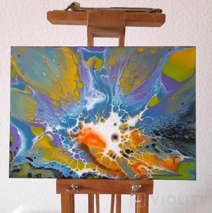 Картина/ живопис/ абстракція Fluid Art #69 acrylic, фото №3