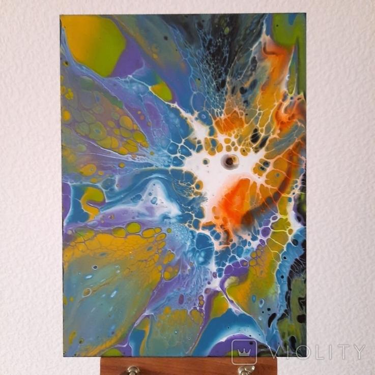 Картина/ живопис/ абстракція Fluid Art #69 acrylic, фото №4