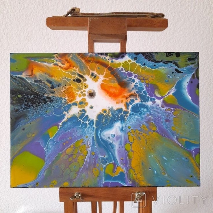 Картина/ живопис/ абстракція Fluid Art #69 acrylic, фото №5
