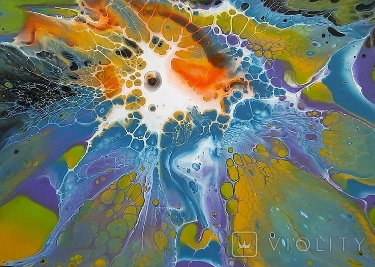 Картина/ живопис/ абстракція Fluid Art #69 acrylic, фото №8