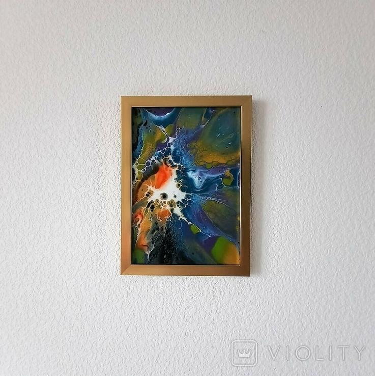 Картина/ живопис/ абстракція Fluid Art #69 acrylic, фото №12