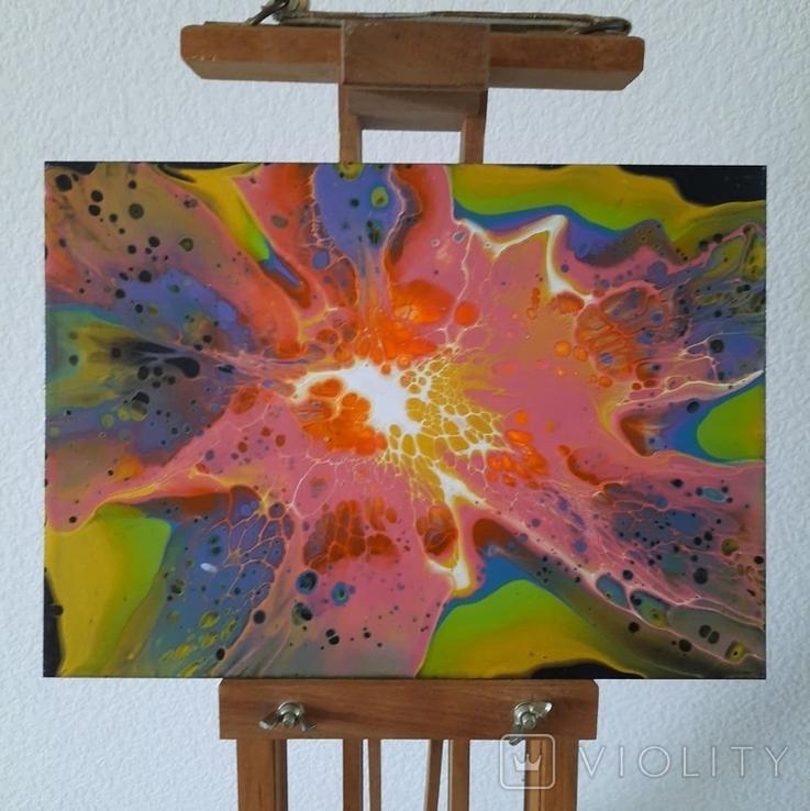 Картина/ живопис/ абстракція Fluid Art #70 acrylic, фото №4